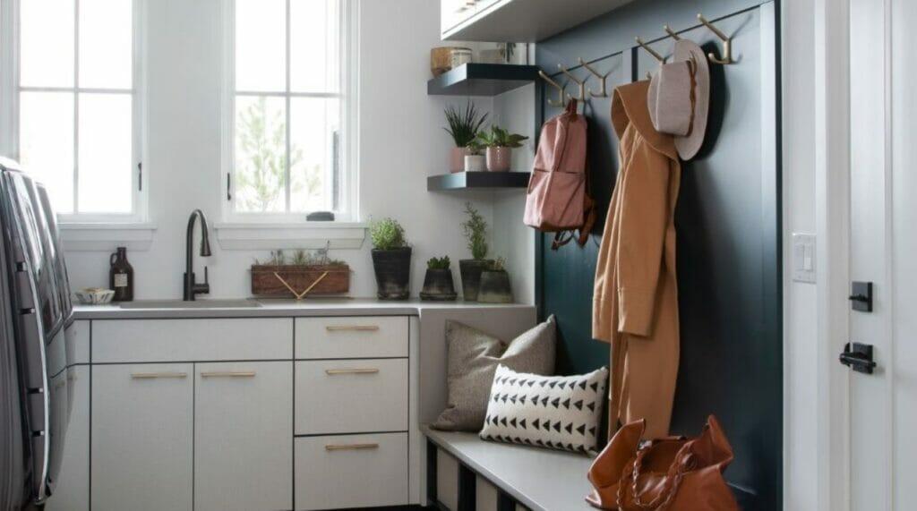 Nordic Laundry room in Caesarstone 4004 Raw Concrete   2968