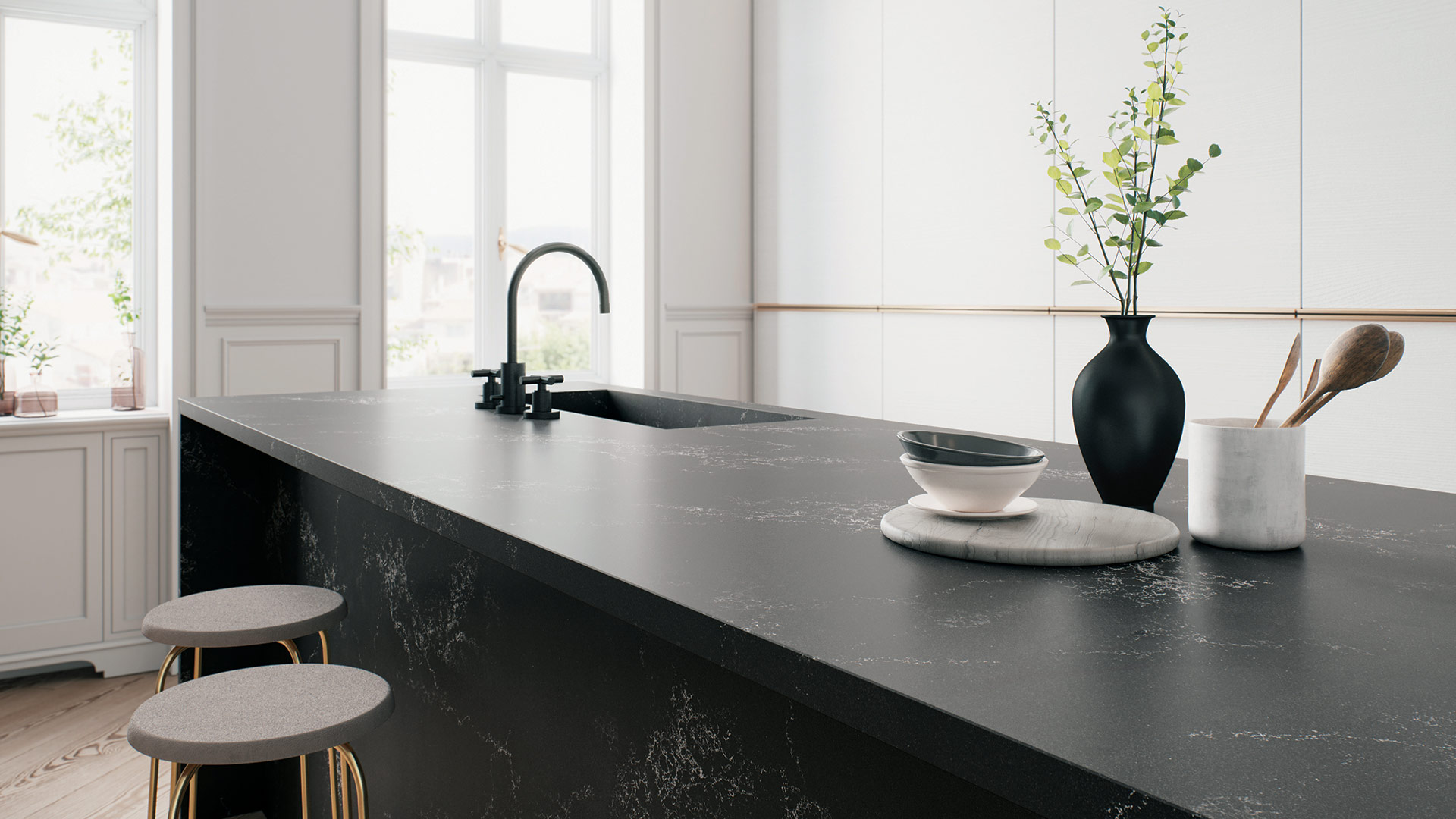 Empira Black 5101 - Caesarstone Countertop