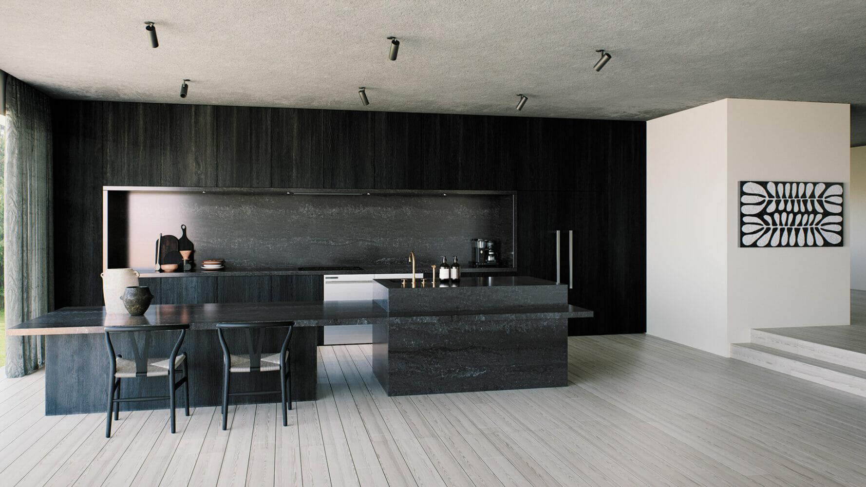 Black Tempal 5810 - Caesarstone Countertop